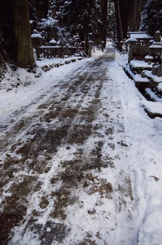 凍る参詣道.jpg
